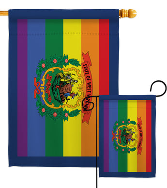 West Virginia Pride - Support Inspirational Vertical Impressions Decorative Flags HG148684 Made In USA