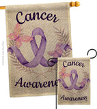 Cancer Awareness - Support Inspirational Vertical Impressions Decorative Flags HG192437 Made In USA