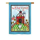 Welcome Down on the Farm - Sweet Home Inspirational Vertical Impressions Decorative Flags HG100063 Printed In USA