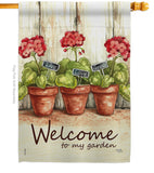 Welcome To My Garden - Sweet Home Inspirational Vertical Impressions Decorative Flags HG100064 Made In USA