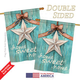 Welcome White Barn Star - Sweet Home Inspirational Vertical Impressions Decorative Flags HG100067 Printed In USA