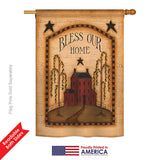 Classic Bless Our Home - Sweet Home Inspirational Vertical Impressions Decorative Flags HG100073 Printed In USA