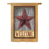 Welcome Country Barn Star - Sweet Home Inspirational Vertical Impressions Decorative Flags HG137054 Printed In USA