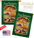 Thanksgiving Feast - Thanksgiving Fall Vertical Impressions Decorative Flags HG113039 Made In USA