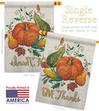 Suzani Give Thanks - Thanksgiving Fall Vertical Impressions Decorative Flags HG113072 Made In USA