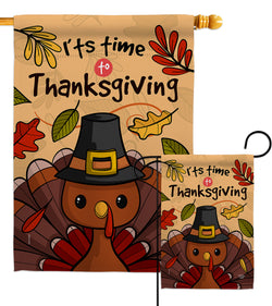 It's Thanksgiving - Thanksgiving Fall Vertical Impressions Decorative Flags HG192288 Made In USA