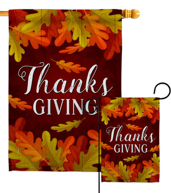 Thanksgiving - Thanksgiving Fall Vertical Impressions Decorative Flags HG192356 Made In USA
