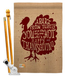 A Part From Turkey - Thanksgiving Fall Vertical Impressions Decorative Flags HG137118 Made In USA