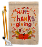 Thanks Giving - Thanksgiving Fall Vertical Impressions Decorative Flags HG192270 Made In USA