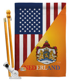 US Dutch Friendship - US Friendship Flags of the World Vertical Impressions Decorative Flags HG108384 Made In USA