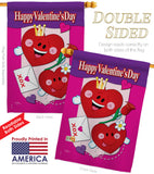 Happy Valentine's Day - Valentines Spring Vertical Impressions Decorative Flags HG101040 Made In USA