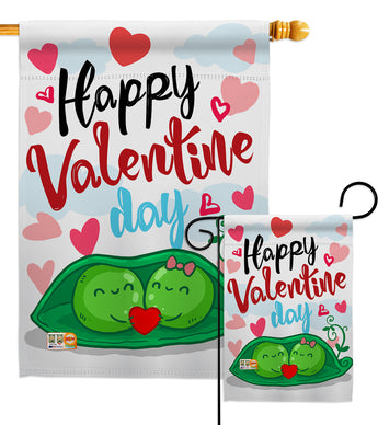 My Sweet Peas Valentine - Valentines Spring Vertical Impressions Decorative Flags HG101054 Made In USA