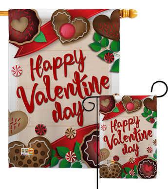 Very Sweet Valentine Day - Valentines Spring Vertical Impressions Decorative Flags HG101056 Made In USA