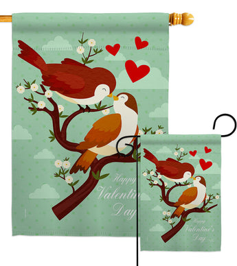 True Love - Valentines Spring Vertical Impressions Decorative Flags HG101076 Made In USA