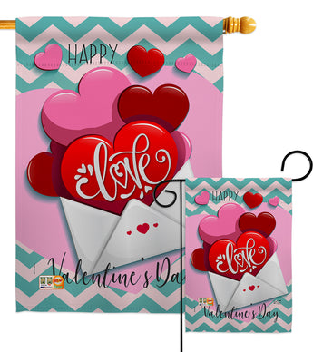 Send My Love Valentine's - Valentines Spring Vertical Impressions Decorative Flags HG137143 Made In USA