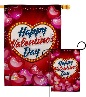 Viva Love - Valentines Spring Vertical Impressions Decorative Flags HG192156 Made In USA