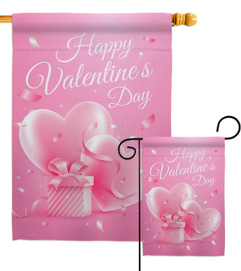 Valentines Gift - Valentines Spring Vertical Impressions Decorative Flags HG192390 Made In USA