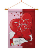 With Love - Valentines Spring Vertical Impressions Decorative Flags HG101002 Made In USA