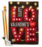 Lightful Valentine Love - Valentines Spring Vertical Impressions Decorative Flags HG101053 Made In USA