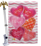 Love Together Forever - Valentines Spring Vertical Impressions Decorative Flags HG101055 Made In USA