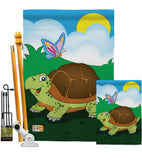 Turtle - Wildlife Nature Vertical Impressions Decorative Flags HG110040 Imported