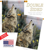 The Call - Wildlife Nature Vertical Impressions Decorative Flags HG110059 Made In USA
