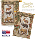 Woodland Adventures - Wildlife Nature Vertical Impressions Decorative Flags HG110109 Made In USA