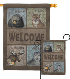 Welcome Wilderness - Wildlife Nature Vertical Impressions Decorative Flags HG110001 Made In USA