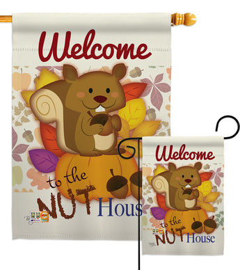 Nut House - Wildlife Nature Vertical Impressions Decorative Flags HG110087 Made In USA