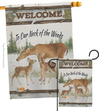Neck Of The Woods - Wildlife Nature Vertical Impressions Decorative Flags HG110106 Made In USA