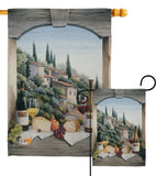 Wine Window - Wine Happy Hour & Drinks Vertical Impressions Decorative Flags HG117024 Made In USA
