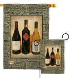 3 Wine Bottles - Wine Happy Hour & Drinks Vertical Impressions Decorative Flags HG117043 Made In USA