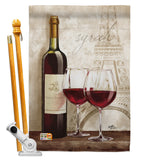 Wine in Paris - Wine Happy Hour & Drinks Vertical Impressions Decorative Flags HG117051 Made In USA