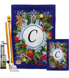 Winter C Initial - Winter Wonderland Winter Vertical Impressions Decorative Flags HG130081 Made In USA
