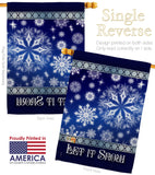 Let It Snow Dream - Winter Wonderland Winter Vertical Impressions Decorative Flags HG114076 Imported