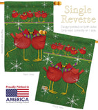 Callin All Cardinals - Winter Wonderland Winter Vertical Impressions Decorative Flags HG114216 Made In USA