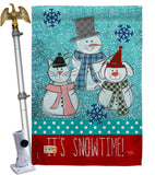 It's Snowtime - Winter Wonderland Winter Vertical Impressions Decorative Flags HG114110 Made In USA