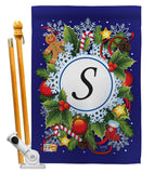 Winter S Initial - Winter Wonderland Winter Vertical Impressions Decorative Flags HG130097 Made In USA