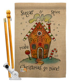 Sugar & Spice Christmas - Winter Wonderland Winter Vertical Impressions Decorative Flags HG137097 Made In USA
