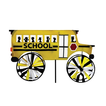 "Two Group - WW175013 School Bus Special Occasion - Everyday Applique Decorative Windwheel 20"" x 49"""