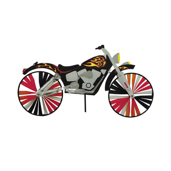 "Two Group - Flames Motorcycle Interests - Everyday Applique Decorative Windwheel 20"" x 49"""