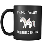 Black 11 Oz Unicorn Mug - Trendsy Tees