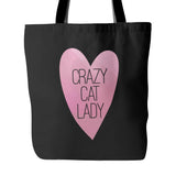 Crazy Cat Lady Tote Bag - Trendsy Tees