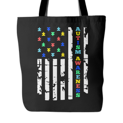 Autism Awareness Flag Tote Bag - Trendsy Tees