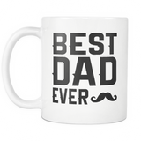 Best Dad Ever Mustache Mug - Trendsy Tees