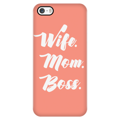 Wife Mom Boss Phone Case - Trendsy Tees