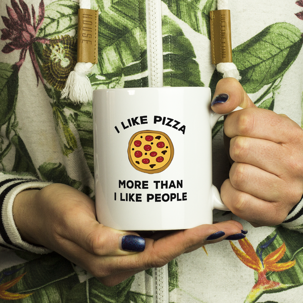 I like Pizza 11 oz White Mug - Trendsy Tees