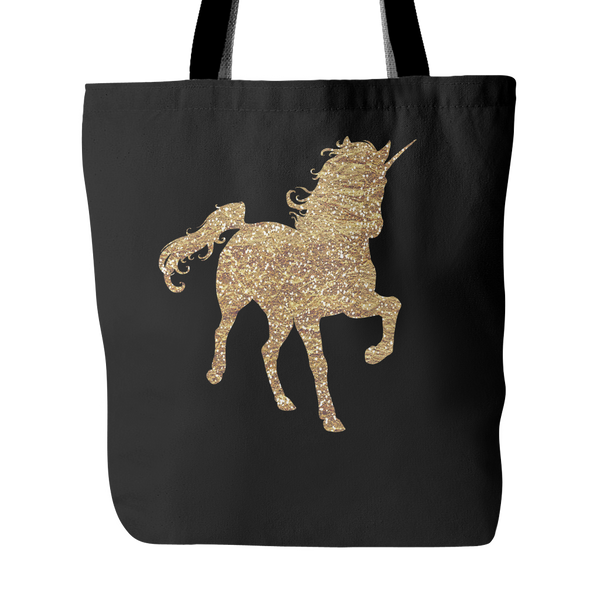 Gold Unicorn Tote Bag - Trendsy Tees