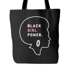 Black Girl Power Tote Bag - Trendsy Tees