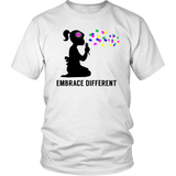 Embrace Different Autism BlackT-shirt - Trendsy Tees